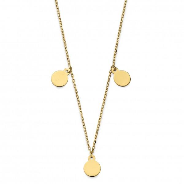 CEM Trends Damen Halskette G3-00181C Plaketten Gold