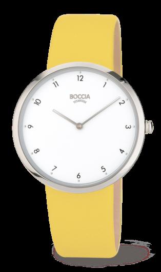Boccia Damen Armbanduhr 3309-11 Trend Lederband gelb