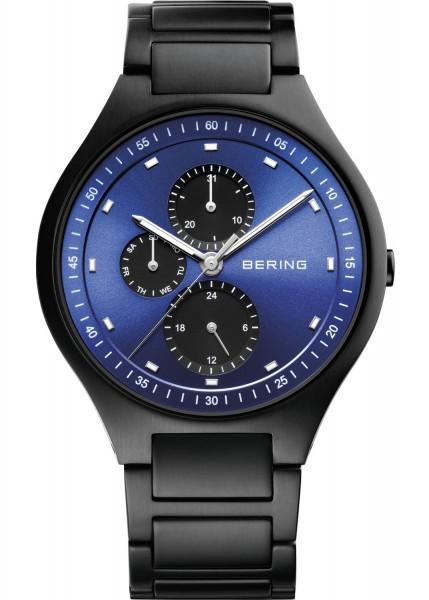 Bering Herren Armbanduhr 11741-727 Titanium schwarz