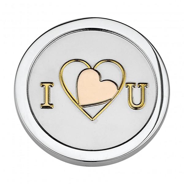 CEM Coins CS059/CS060 Anhänger I love U Tricolor