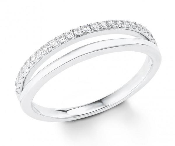 s.Oliver Damen Ring 2022725 Zirkonia Silber