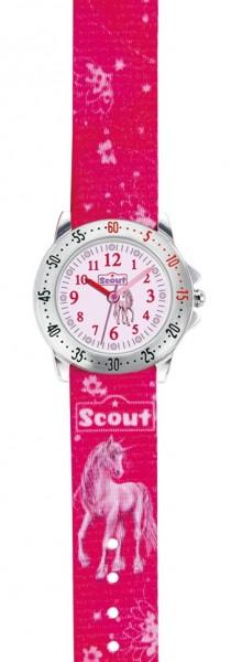 Scout Kinder Armbanduhr 280378007 ACTION GIRLS Einhorn rot