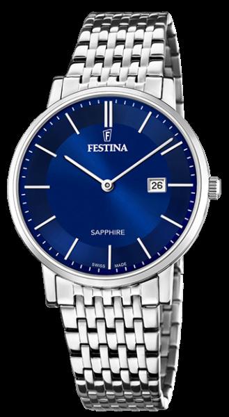 """Festina Herren Armbanduhr F20018/2 """"Swiss Made"""""""