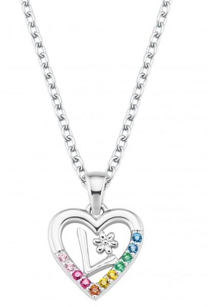 Lillifee Mädchen Buchstabenkette L 2027885 Silber Zirkonia bunt