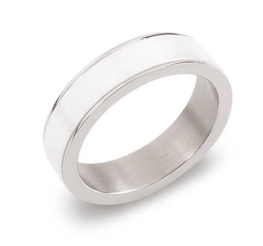 Boccia Damen Ring 0132-01 Titan Ceramic Weiß