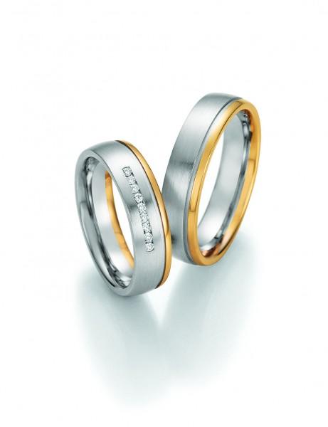 Trauringe SOLID IV 66/42050-66/42060 Weißgold/Gelbgold