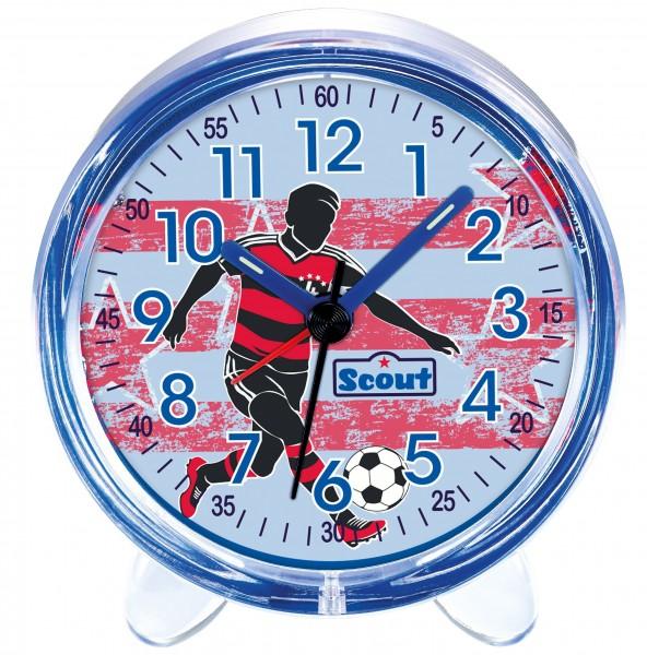 Scout Kinder Wecker Favorit 280001052 Fussball Blau