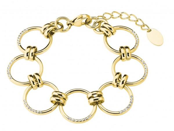 s.Oliver Damen Armband 2027627 Edelstahl IP Gold Swarovski®