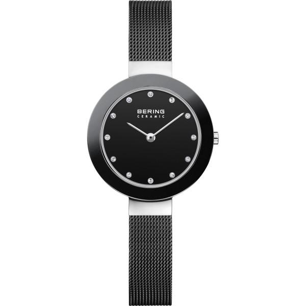 Bering Damen Armbanduhr 11429-102 Ceramic schwarz