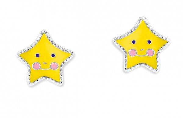 Lillifee Mädchen Ohrstecker 2024366 Stern Gelb Silber