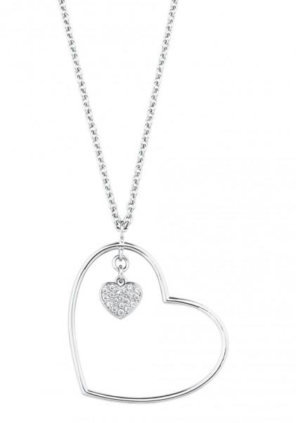 s.Oliver Damen Halskette 2027839 SO IN LOVE Herz Silber Zirkonia
