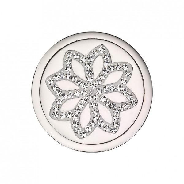 CEM Coins CS311/CS312 Anhänger Blume Kristall weiß brombeer