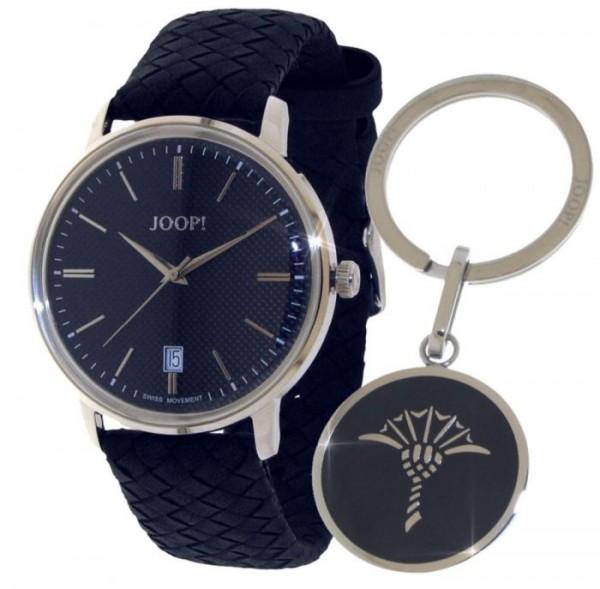 JOOP! Set 2027304 Herren Armbanduhr und Schlüsselanhänger