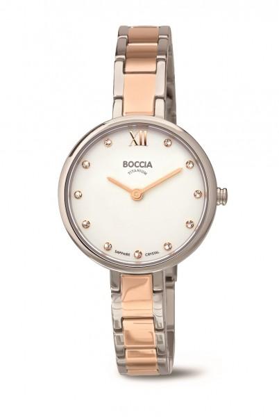 Boccia Damen Armbanduhr 3251-02 Dress rose IP