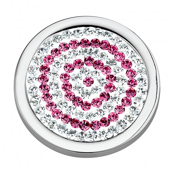 CEM Coins CS027/CS028 Anhänger Kreise pink Zirkonia