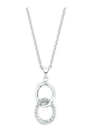 s.Oliver Damen Halskette 2028494 Anhänger Zirkonia Silber