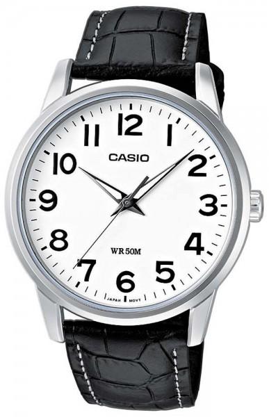 Casio Herren Armbanduhr MTP-1303PL-7BVEF Lederband analog