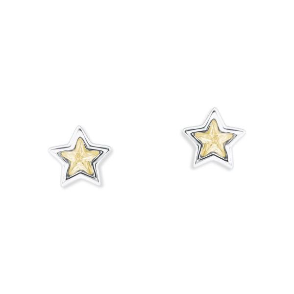 Lillifee Ohrstecker 2024373 Stern gelb Silber 925