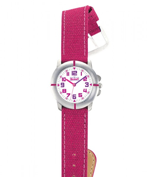 Scout Mädchen-Armbanduhr pink 280390021 Meine Erste