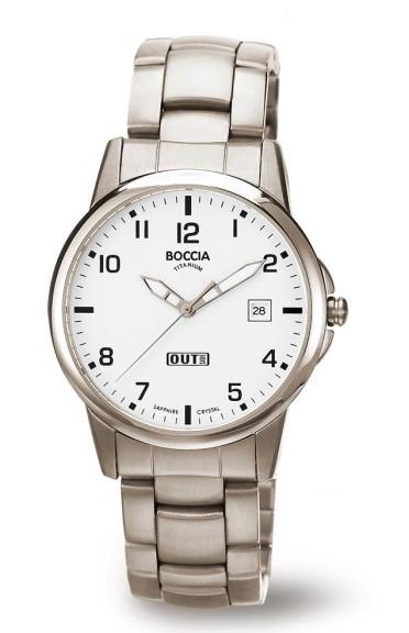 Boccia Herren Armbanduhr 3625-03 Classic