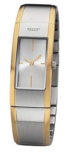 Regent Damen Armbanduhr GM-2103 Made in Germany bicolor