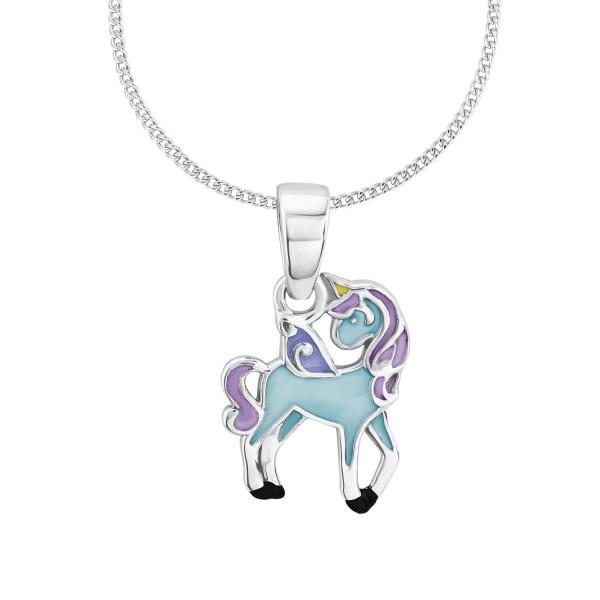 Lillifee Halskette 2013161 Einhorn blue Silber 925-