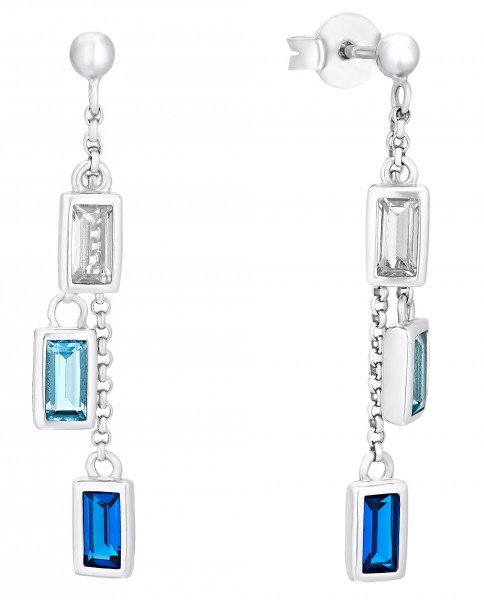 s.Oliver Ohrhänger 2031452 Silber Zirkonia blau