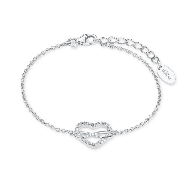 s.Oliver Armband 2020972 Herz Infinity Silber Zirkonia