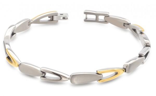 Boccia Damen Armband 03033-02 Titan teil-gelbgoldplattiert