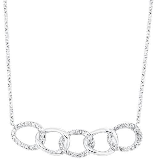 s.Oliver Damen Halskette 2028496 Silber Zirkonia