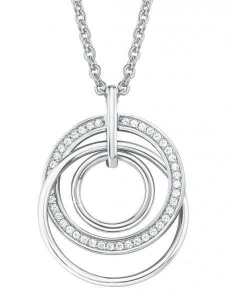 s.Oliver Damen Halskette 2025993 Silber Zirkonia