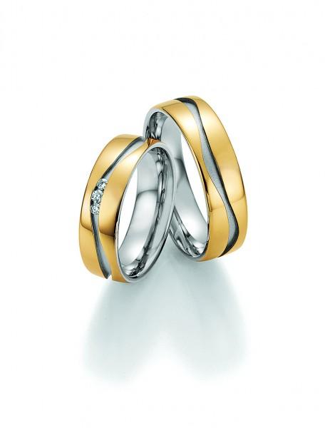 Eheringe Trauringe Solid II 66/34070 66/34080 Gelbgold Weißgold