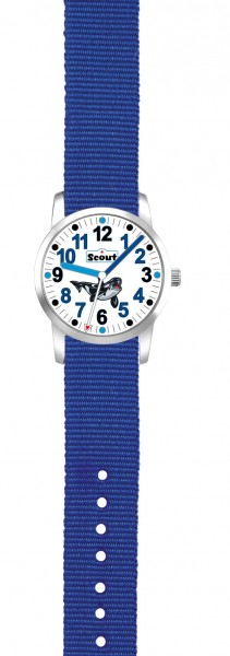 "Scout Jungen Armbanduhr UP! 280310003 ""Big Orca"" blau"