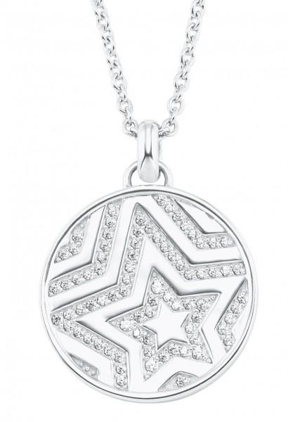s.Oliver Damen Halskette 2026092 Stern Silber Zirkonia