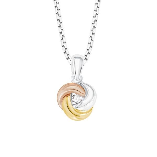 s.Oliver Damen Halskette 2012639 Knoten tricolor
