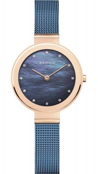 Bering Damen Armbanduhr 10128-368 Classic roségold-blau