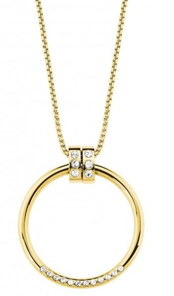 s.Oliver Damen Halskette 2027628 Edelstahl IP Gold Swarovski®