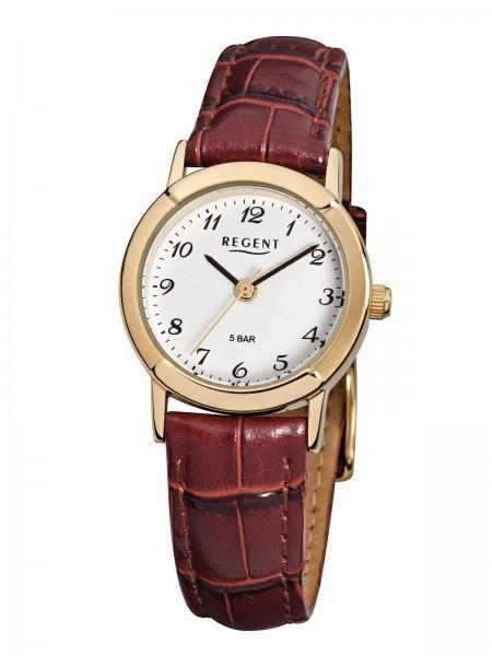 Regent Damen Armbanduhr F-575 Lederband