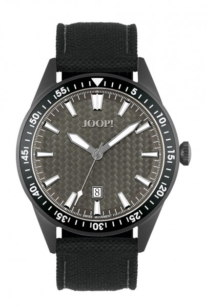 JOOP! Herren Armbanduhr 2027589 Leder Nylon schwarz