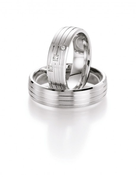 Eheringe Trauringe Silber 55/10070-10080 White Style Silver