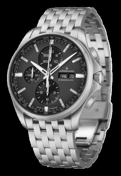 Junghans Herren Armbanduhr 027/4024.44 Meister S Chronoscope Automatic