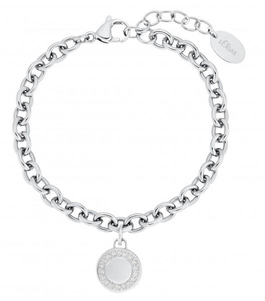 s.Oliver Damen Armband 2031480 Edelstahl Zirkonia