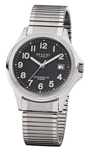 Regent Herren Armbanduhr 1199.42.86 F-878 Edelstahl Zugband
