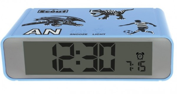 Scout Kinder Wecker 280001026 THE DIGI CLOCK blau