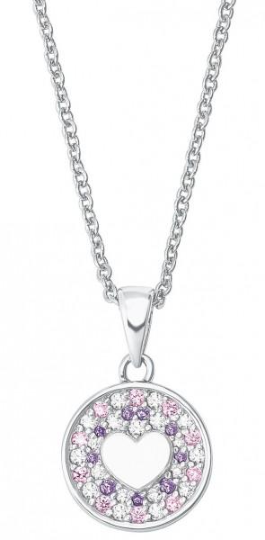 Lillifee Mädchen Halskette 2027220 Herz Silber Zirkonia