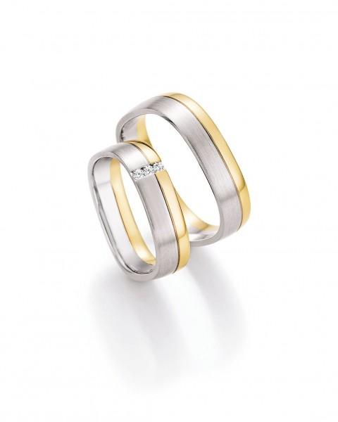 Eheringe Trauringe Solid V 66/45070 66/45080 Weißgold Gelbgold