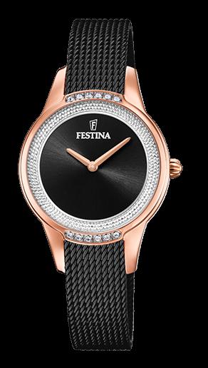 Festina Damen Armbanduhr F20496/2 Mademoiselle mit Swarovski Kristallen