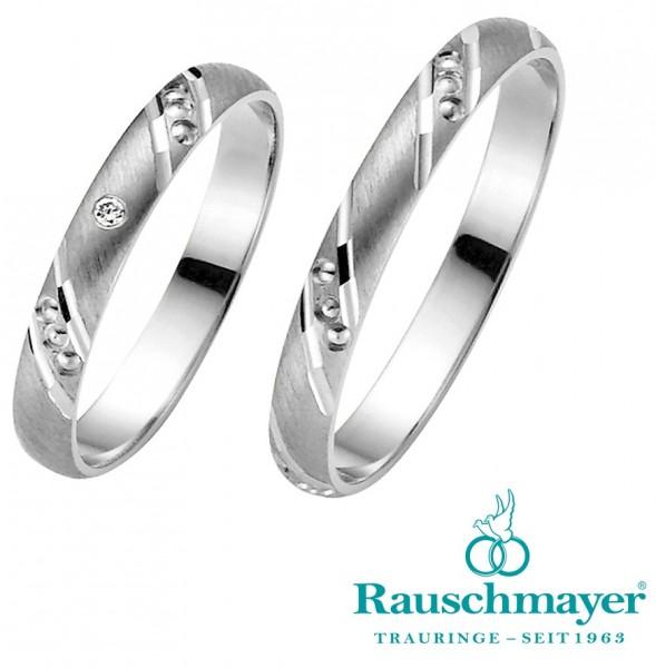 Eheringe Trauringe Rauschmayer Easy Pair 10-03445 11-03445 Weißgold