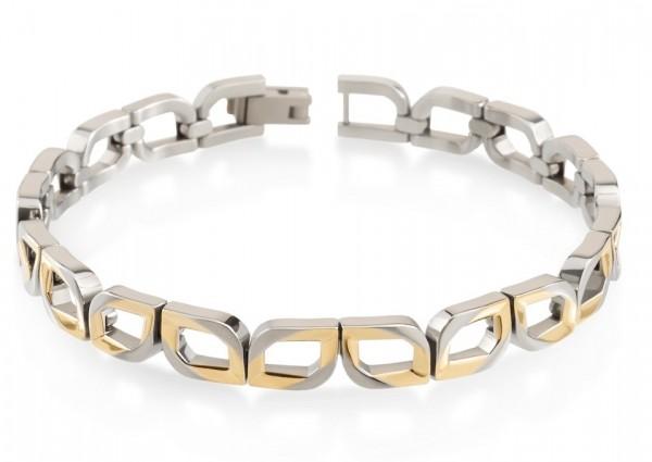 Boccia Damen Armband 03010-02 Titan teil-gelbgoldplattiert