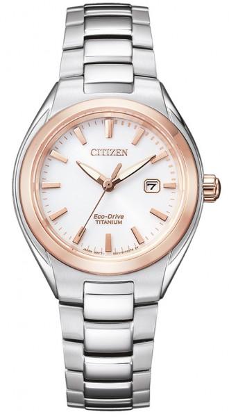 Citizen Damen Armbanduhr EW2616-83A Eco Drive Titan